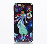 Cartoon Pattern Plastic Cover for iPhone 6