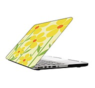 precioso diseño de flores de todo el cuerpo caja de plástico de protección para 13 pulgadas / macbook-pro con pantalla retina de 15 pulgadas