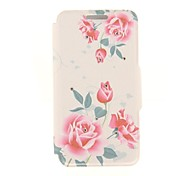 Kinston Ink Painting of Flowers Diamond Paste Pattern PU Leather Full Body Case with Stand for Nokia Lumia 930