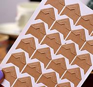 papel kraft diy adesivo protetor de canto da foto (24 adesivos / pcs)