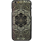 Relief Blumen-Design-Muster hard cover für iphone 6