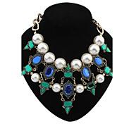 Frauen eu&uns Schichten Perlen Perlen geometrische Cluster Schellfisch-Aussagen-Halskette