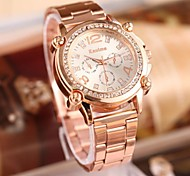 Women's Fashion Rhinestones Steel Belt Quartz Watch