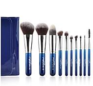 msq®10pcs Heidelbeere Nacht Make-up-Pinsel mit blauer Taschen-Set