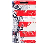 The Statue Of Liberty Design PU Leather Full Body Case with Card for Sony Xperia M2 S50h