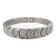 "Healing Magnetic 316L Stainless Steel Tennis Bracelet 8.5"""