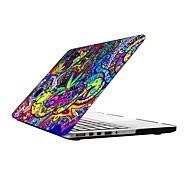 bunte Muster Ganzkörper-Kunststoffschutztasche für 13-Zoll-/ 15-Zoll-MacBook-Pro mit Retina-Display