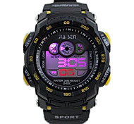 Children's Round Dial PU Band Multifunction LED Sports Wrist Watch 30m Waterproof (Assorted Colors)