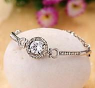 Fashion Zircon Imitation Diamond Alloy Bangles Bracelets for Women in Jewelry