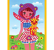 EVA Dot Mosaic 3D Stickers Children Hand DIY Shy Girl Toy