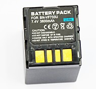 3600mAh  Digital Camera Battery BN-VF733U for Applicable JVC GRX4 GRX5  D250 D270 D290 DF430