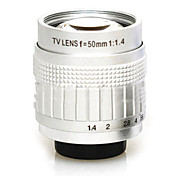 Second-hand C-Mount 50mm F1.4-F16 CCTV Lens on E Lens Mount(Standard Series)