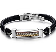 Z&X®  Man's Fashion Personality Three Color Titanium Steel Silicone Bracelets