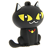dibujos animados 32gb zp55 gato negro usb 2.0 flash drive