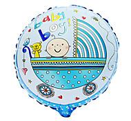 Blue Baby Boy Carriage Aluminium Membrane Baby Shower Birthday Party Balloon(1 PCS)