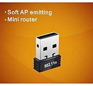 comfast® cf-wu710n 2.4GHz 802.11b / g / n 150Mbps USB 2.0 wireless wi-fi adattatore di rete - nero