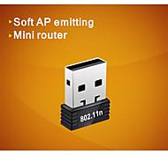 comfast® cf-wu710n 2.4GHz 802.11b / g / n 150Mbps USB 2.0 adaptador de red inalámbrica wi-fi - negro