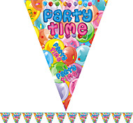 Multicolor Party Time Happy Birthday Flag Banner Party Accessory