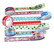 Fancy Adhesive Scrapbooking Adhesives Tape 2.2 M(4 PCS Random Color)