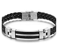 Z&X®  Man's Fashion Personality Weaving Shape Leather Bracelet