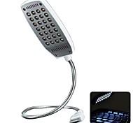 360 Degree Angle Adjustable Super Bright USB Powered Mini LED Night Light (White)