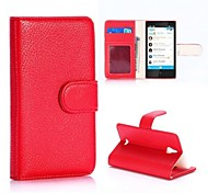 Litchi Textured Wallet Style Magnetic Flip Stand PC + PU Leather Case for Nokia X2 1013 Dual SIM(Assorted Colors)