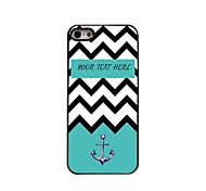 Personalized Gift Sea Wave and Anchor Design Metal Case for iPhone 5/5S