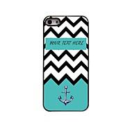 персональный подарок морская волна и якорь дизайн металлический корпус для iPhone 5/5 секунд