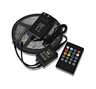 5m 300x3528 SMD muziek light strips rgb flexibele led light strips + 20key muziek afstandsbediening + 2a vermogen (110-240)