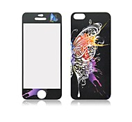 Angibabe Butterfly Pattern Front and Back Tempered Glass Screen Protector for iPhone 5/5S