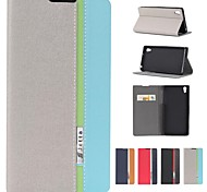 Assorted Color PU Leather Full Body Case with Stand and Card Slot for Sony Xperia Z2 (L50w) (Assorted Colors)