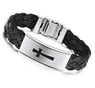 Z&X®  Men's Fashion Personality Titanium Steel Cross Weaving Belt Bracelets