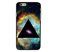 Space in Triangle Style Plastic Hard Back Cover for iPhone 6