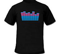 suono e la musica attivato el t-shirt ballerino visualizzatore vu-spettro (2 * aaa)