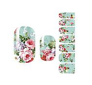 yemannvyou®14pcs Reichtum&Ehrenpfingstrose Mode Nail Art Sticker