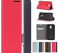 разные цвета кожи пу полный корпус кейс с подставкой и слот для карт памяти для Samsung Galaxy S5 мини