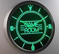 nc0310 sala giochi per bambini uomo delle caverne segno al neon ha condotto l'orologio da parete