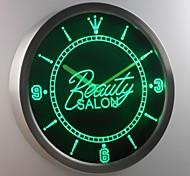 nc0298 Beauty Salon Shop Neon Sign LED Wall Clock