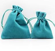 10pcs coway 7 * 9 * 2 se sentent sac de bijoux velours épais de haute qualité souple et confortable