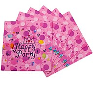 Coway 30*30*1 A Packet of 20 Pink Cute Cartoon Pattern Birthday Napkins