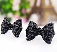 Fashion Cute Black Butterfly Bow Earrings