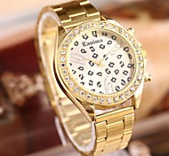 Women's Fashion Sexy Leopard Rhinestones Steel Belt Watch Cool Watches Unique Watches
