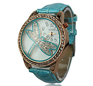 Women's Dragonfly PU Band Quartz Wrist Watch(Assorted Colors)