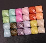 Z&X®  8MM 100 PCS DIY Candy Color Crystal Sand Glass Rhinestone Flatback(Random Color)