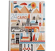 24 Hours in Cairo Pattern Leather Full Body Case with Stand for Apple iPad Air