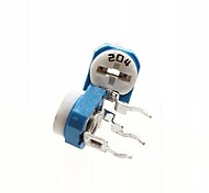 200k ohm azul&resistor branco ajustável - azul + branco (10 peças)
