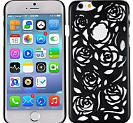 Stylish Hollow Out Rose Design Frosted PC Hard Shell Back Cover for iPhone 6(Assorted Colors)
