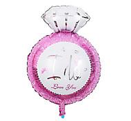 giorno di festa palloncino rosa anello di diamanti di san valentino membrana di alluminio