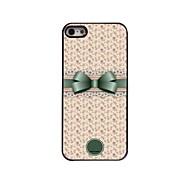 персональный подарок прекрасный бантом и цветочный дизайн металлический корпус для iPhone 5/5 секунд