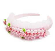 Corea Cute Princess Lace Pearl  Headband (Color Random)